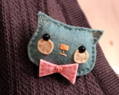 sale - Handsome Kitty Brooch No.1