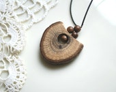 Oak wood pendant,amulet-For him,for her-Gift idea-Eco friendly-Rustic