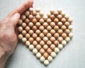 Heart-Juniper wood coaster- Kitchen utensil-Trivet-Eco friendly-Rustical-Home decor-Mothers day gift