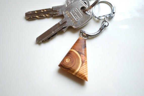 Wood mosaic keychain-Men accessories-For him,for her-Rustic,natur,wood-Juniper,oak,ash tree