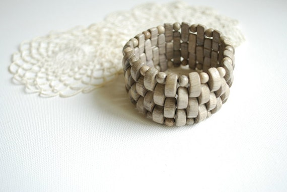 White hornbeam wood  bracelet-Eco friendly,rustic-Country style-Nature,forest,woodland