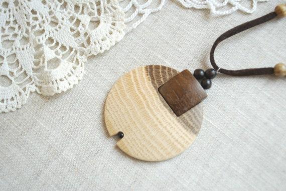 Ash wood,oak wood pendant,amulet-Gift idea-Eco friendly-Rustic-Brown,beige-Forest,woodland