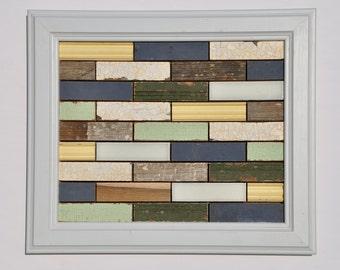 Reclaimed Rustic Wood and Tile Assemblage - Rectangle