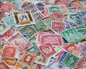 100 Vintage Postage Stamps from Europe, Asia, Africa, South America, and More - 1890s to 1960s