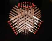 Pencil Sculpture of 72 Pencils Natural Color