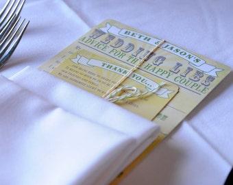 I Spy Place Cards for Wedding Reception, Printable PDF, Bridal Shower Games, Wedding Reception Decor, I Spy Wedding Game