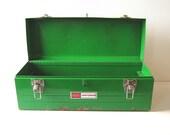 Vintage Tool Box Shamrock Kelly Green Sears Craftsman 1970s