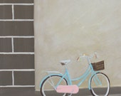 Bicycle-  Original Oil Painting on Canvas