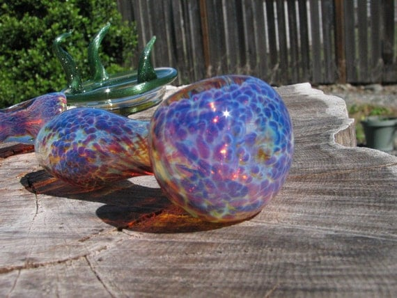 Glass Pipe Purple Frit Pipe