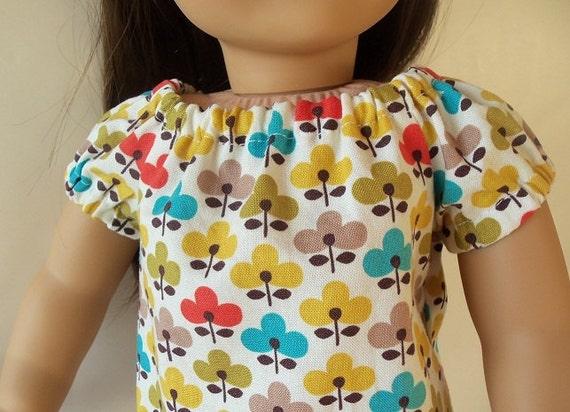 American Girl 18 inch doll Pretty Retro Peasant Top