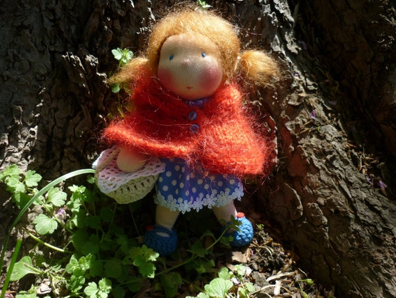 8 inch Waldorf doll-Little Red Riding Hood