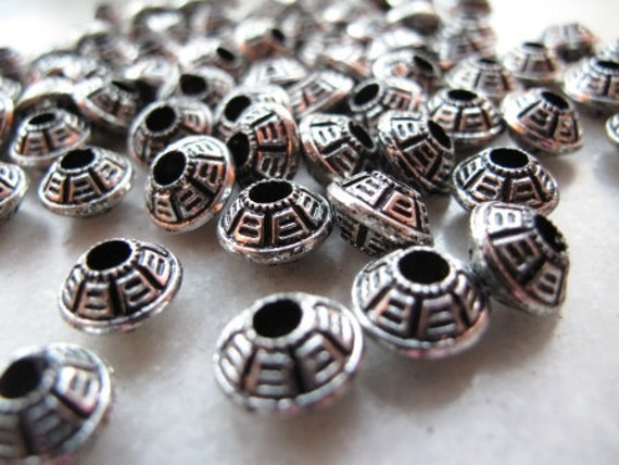 10mm saucer shaped spacer bead, acrylic x 100, free combined shipping