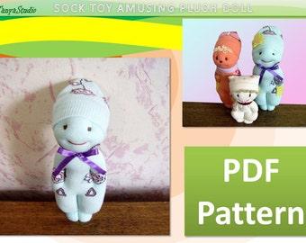 Amusing Plush Doll - Sock Toy - PDF Pattern