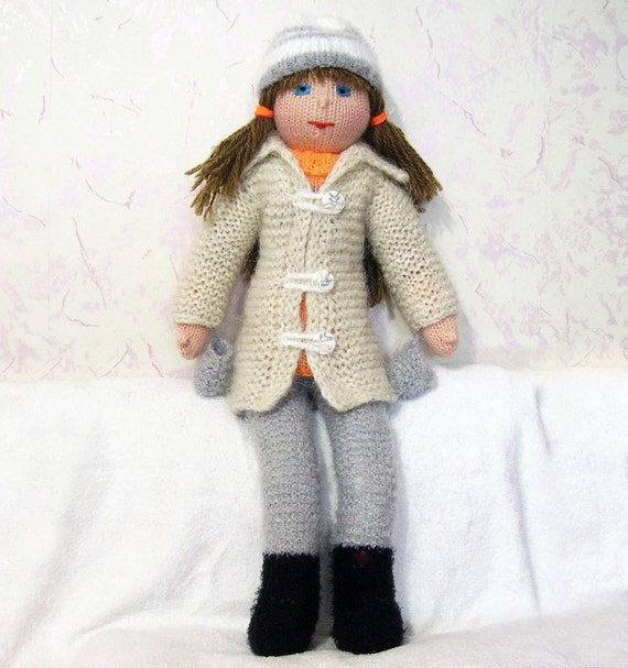 knitted doll from Russia Maroussia free shipping