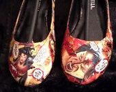 Comic Book Wonder Woman flats