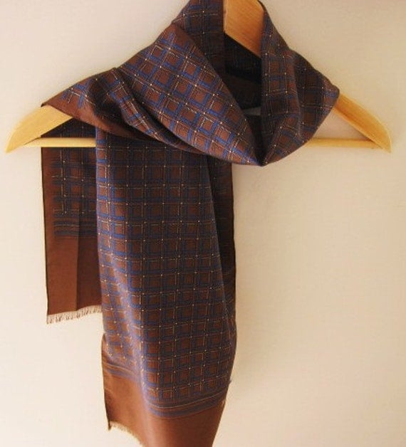 Jacqmar  oblong scarf for a man or a woman 70s