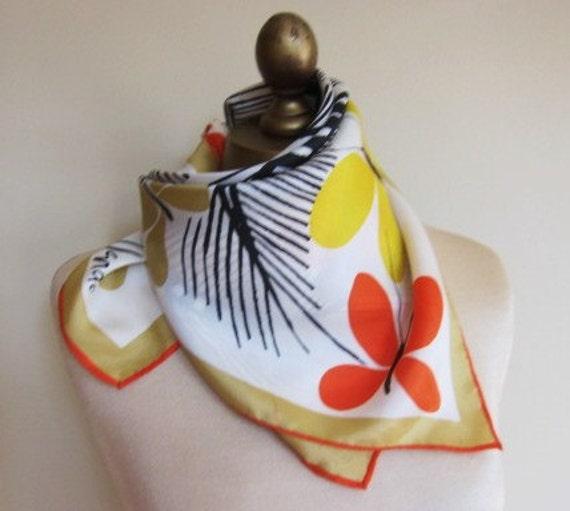 Vera tropical silk scarf 70s Vera Nuemann bright and vivid
