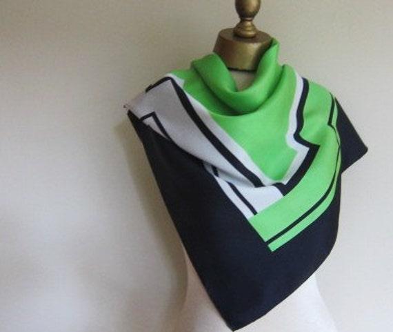 RESERVED for Davina  Swiss silk scarf Brauchbar 1970s