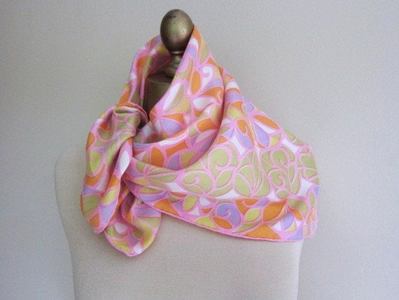 silk scarf from the swinging 1960s