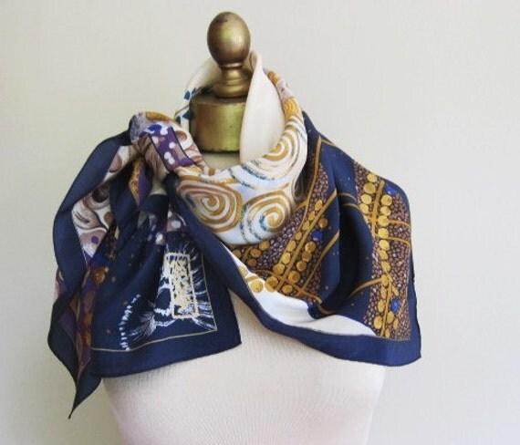 Gustav Klimt silk scarf from Austria