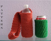 Crochet Pattern Water Bottle and Can Cozies Digital Download