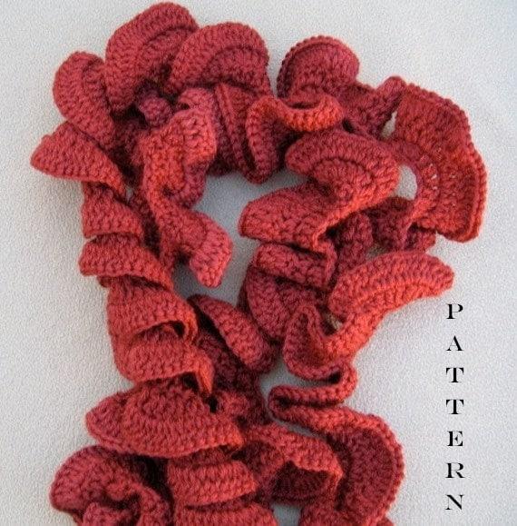 PDF Crochet Pattern Spiffy Spiral Scarf