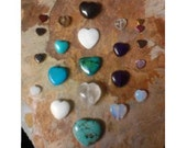 Crystal Grid Heart Shaped Healing Talisman Amulet Stones