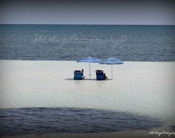 Beach Chairs / Ocean  Photography / Photo Card / wish you were here / Beach Couples Card / Free US Shipping