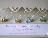 Wine Charms for bridal showers, engagements and parties