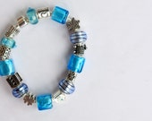 The Calm Sea - pandora inspired bracelet handmade by me