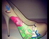 Alice in Wonderland Flower Garden shoes