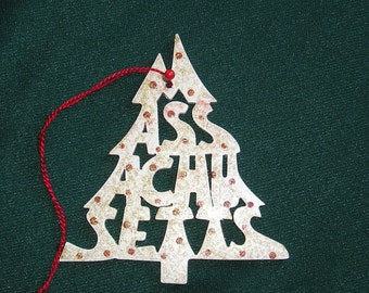 Massachusetts ornament, tree shaped