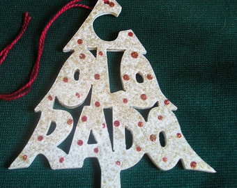Colorado ornament, tree shaped