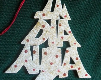 Indiana ornament, tree shaped