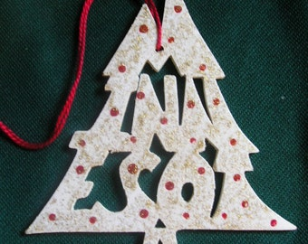 Minnesota ornament, tree shaped