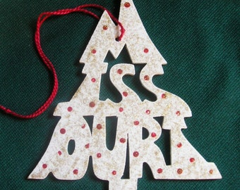 Missouri ornament, tree shaped