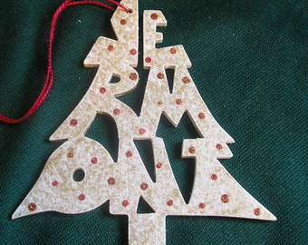 Vermont ornament, tree shaped