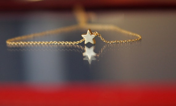 star necklace, gold star necklace, bridesmaid gift