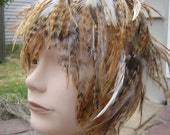 Super Chic - Ultra Sexy Chinchilla Hackle Feather Wig - Only one available