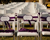 Reserved Wedding Signs- Purple, Rustic, Elegant, Recycled