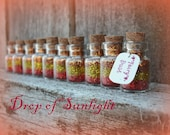 Fairy Dust Jars set of 10 SALE Drop of Sunlight, Fairy Tale, Princess, Tiny, Rapunzel