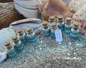 Mermaid Favors Ocean Mist Mermaid tiny jars, Mermaid Party Favors, blue, green, silver, aqua, teal, mint