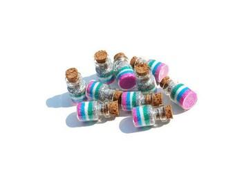 Mermaid Favors, Ocean Mist Mermaid jars, Mermaid Party Favors, blue, green, silver, pink, Mermaids