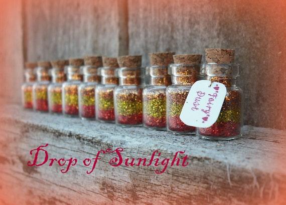 Fairy Dust Jars set of 10 SALE Drop of Sunlight, Fairy Tale, Princess, Tiny, Rapunzel