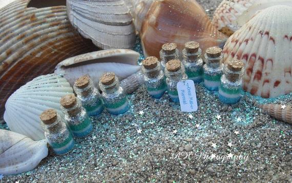 Reserved for Sandy Mermaid Favors set of 20 Ocean Mist Mermaid jars, Fairy Tale, Mermaid dust, Tiny, Mermaid Party Favors