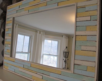Reclaimed Painted Wood Mirror