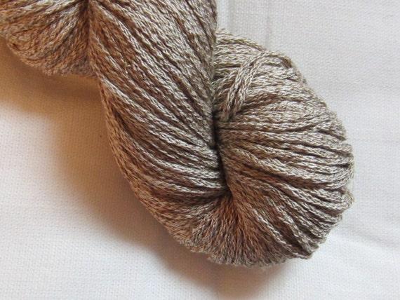 "SALE  --Half Price--  100% Silk yarn, Free Shipping, 141 yds, dk weight, ""Iced Latte"""