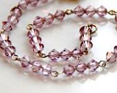 Swarovski Bracelet Pink Crystal Beaded