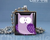 Special offer - Owl Alone - a jewelry pendant with scrabble wooden tile