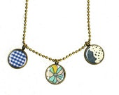 Antiqued brass Necklace 10 inch (26 cm) 3 different patterns